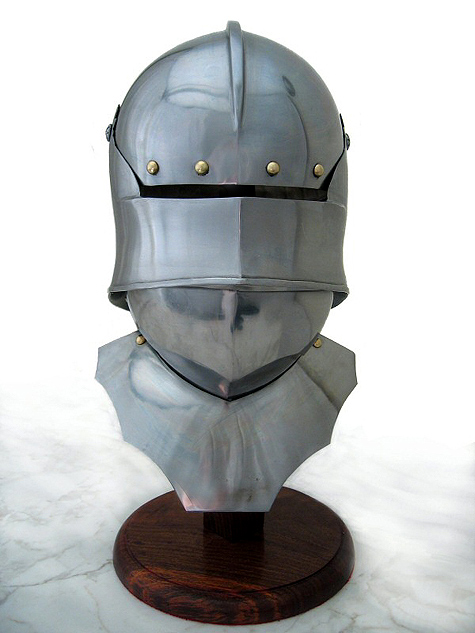 TherionArms - Gothic sallet with bevor (18ga)