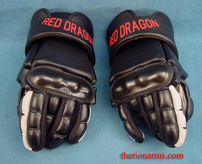 4191c1b3c60ba9 TherionArms - Red Dragon HEMA fencing gloves
