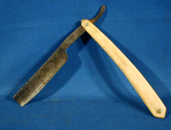 Razor Side By Side >> TherionArms - Civil War bone handle straight razor